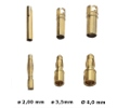 Gold connector set m/f Ø2,0mm