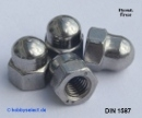 Hexagon cap nuts M3 stainless A2 DIN 1587